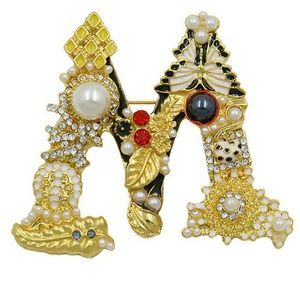 Jewelry - GORGEOUS STATEMENT DIVA BROOCH NEW LETTER M